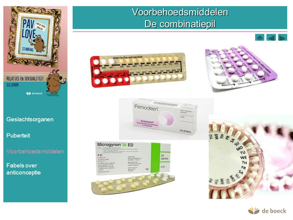 Voorbehoedsmiddelen De combinatiepil