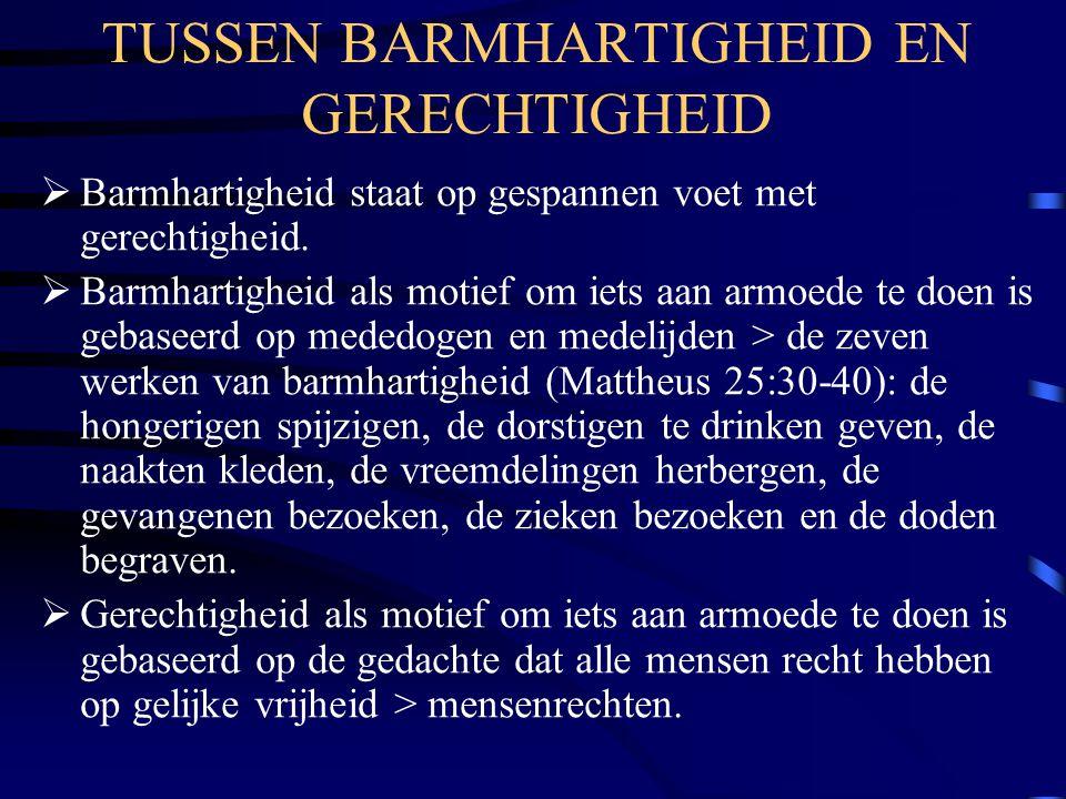 TUSSEN BARMHARTIGHEID EN GERECHTIGHEID