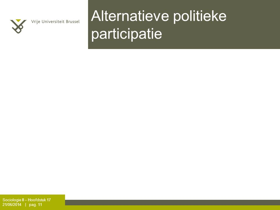 Alternatieve politieke participatie