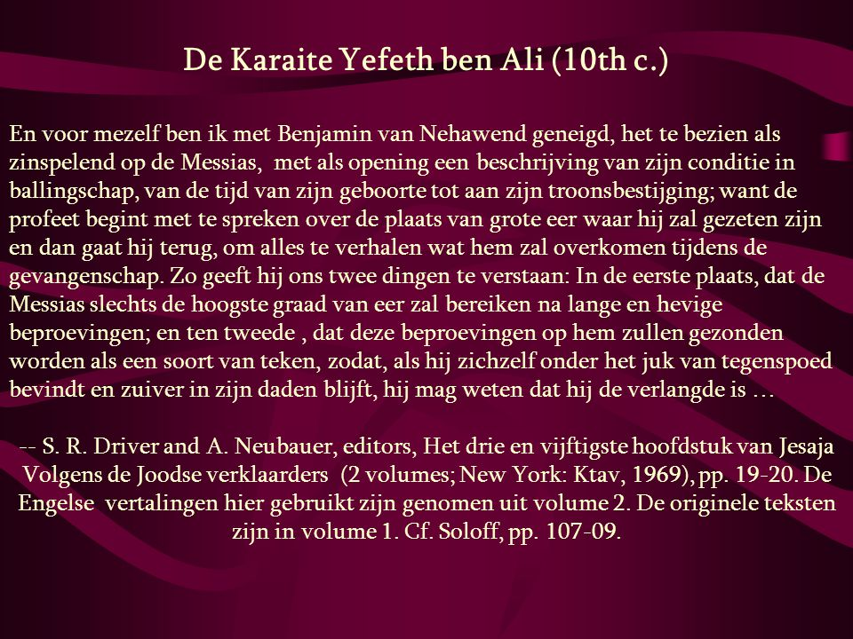 De Karaite Yefeth ben Ali (10th c.)