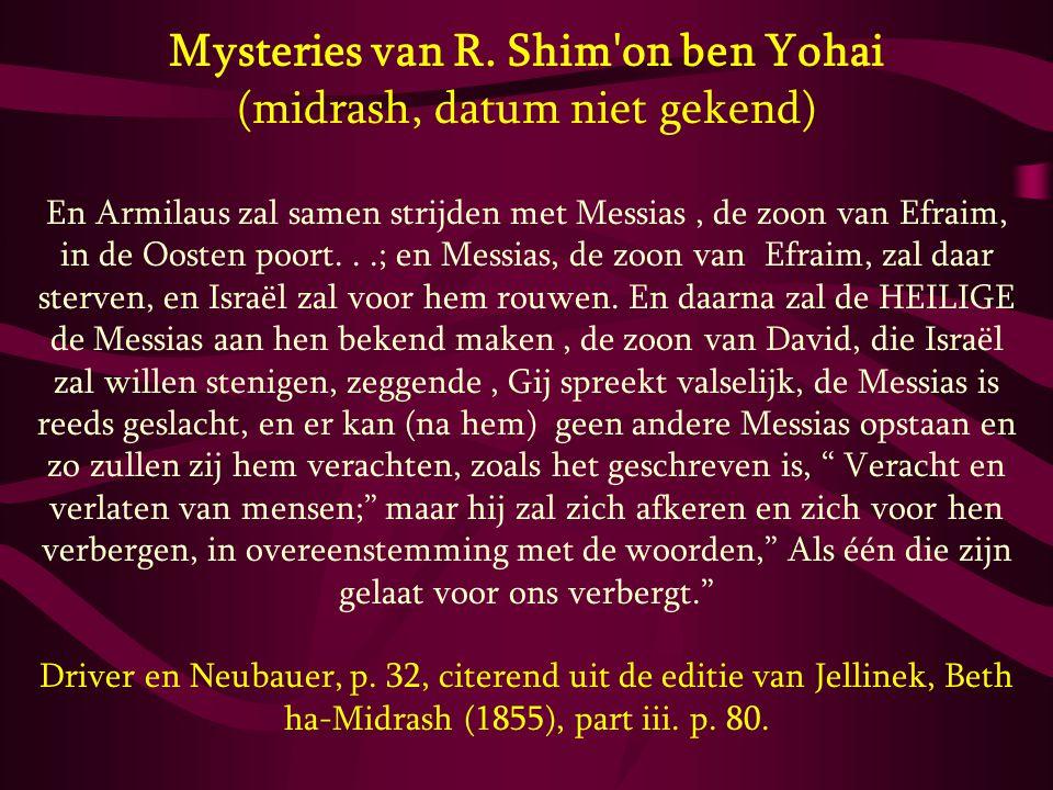 Mysteries van R. Shim on ben Yohai