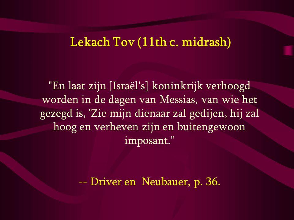 Lekach Tov (11th c. midrash)