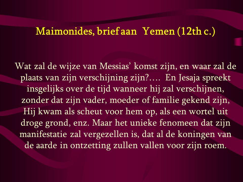 Maimonides, brief aan Yemen (12th c.)