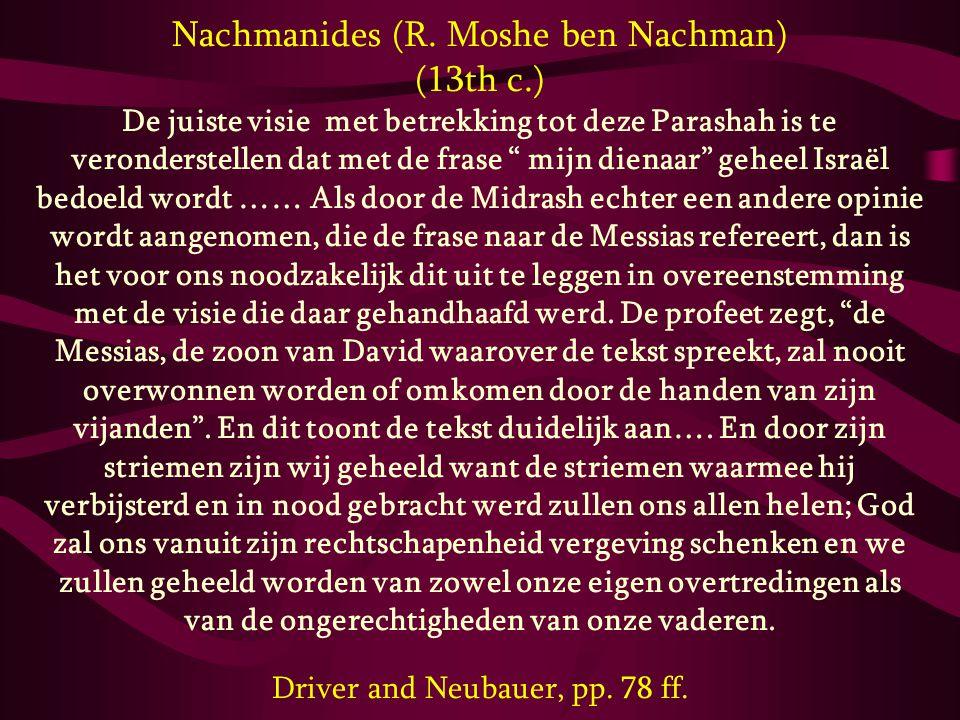 Nachmanides (R. Moshe ben Nachman) (13th c.)