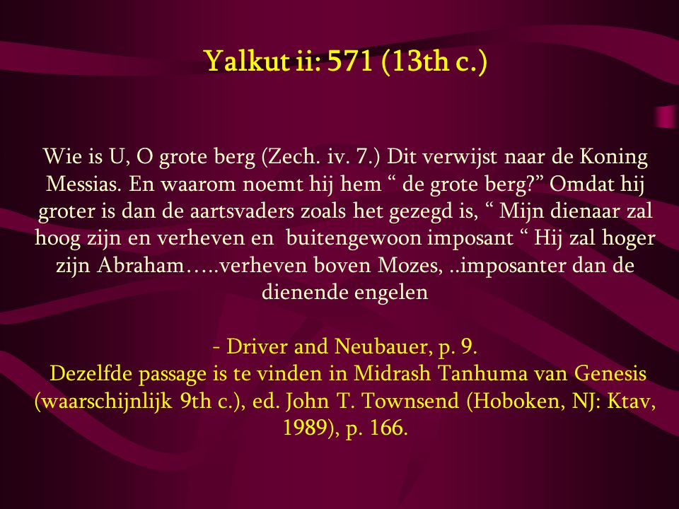 Yalkut ii: 571 (13th c.)