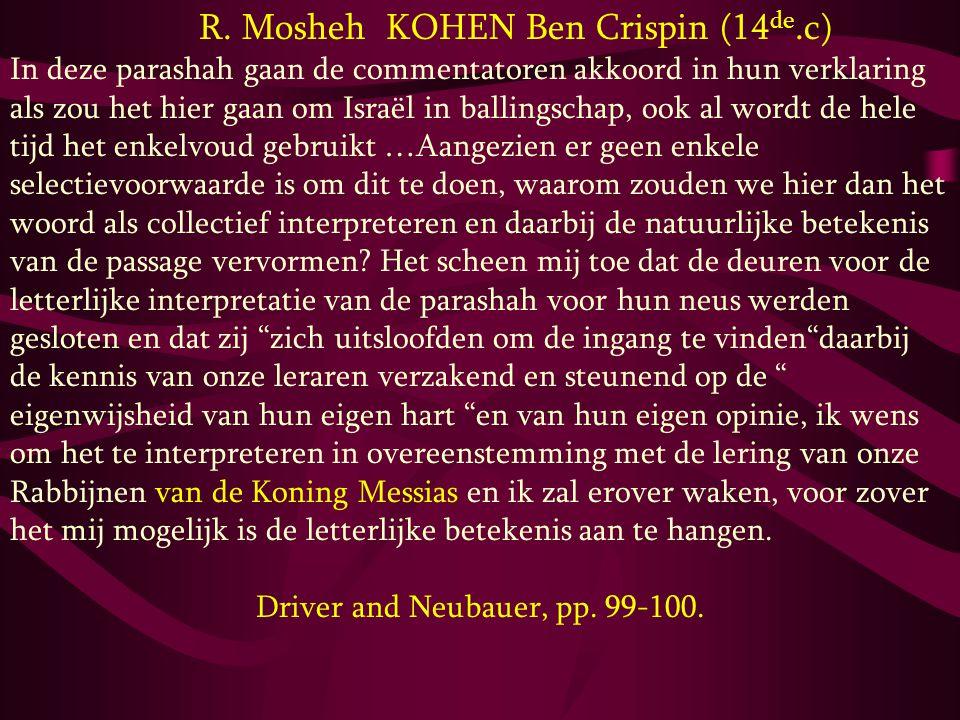 R. Mosheh KOHEN Ben Crispin (14de.c)