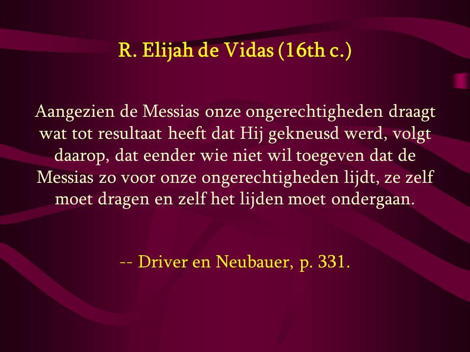 R. Elijah de Vidas (16th c.)