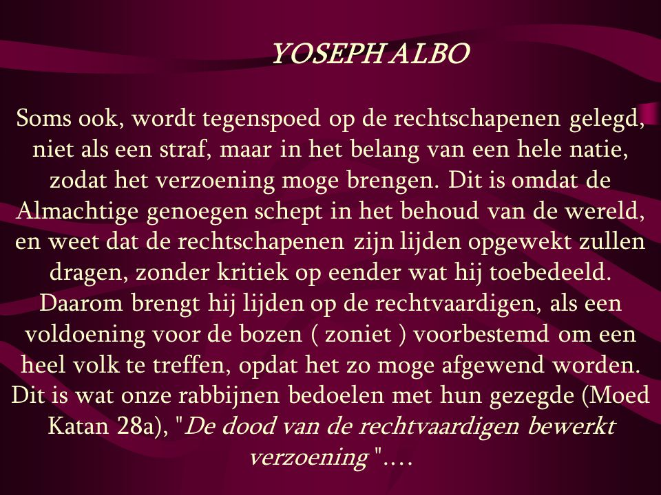 YOSEPH ALBO