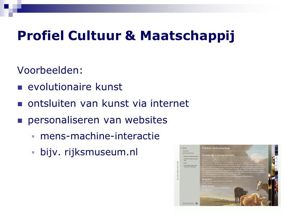 Profiel Cultuur & Maatschappij