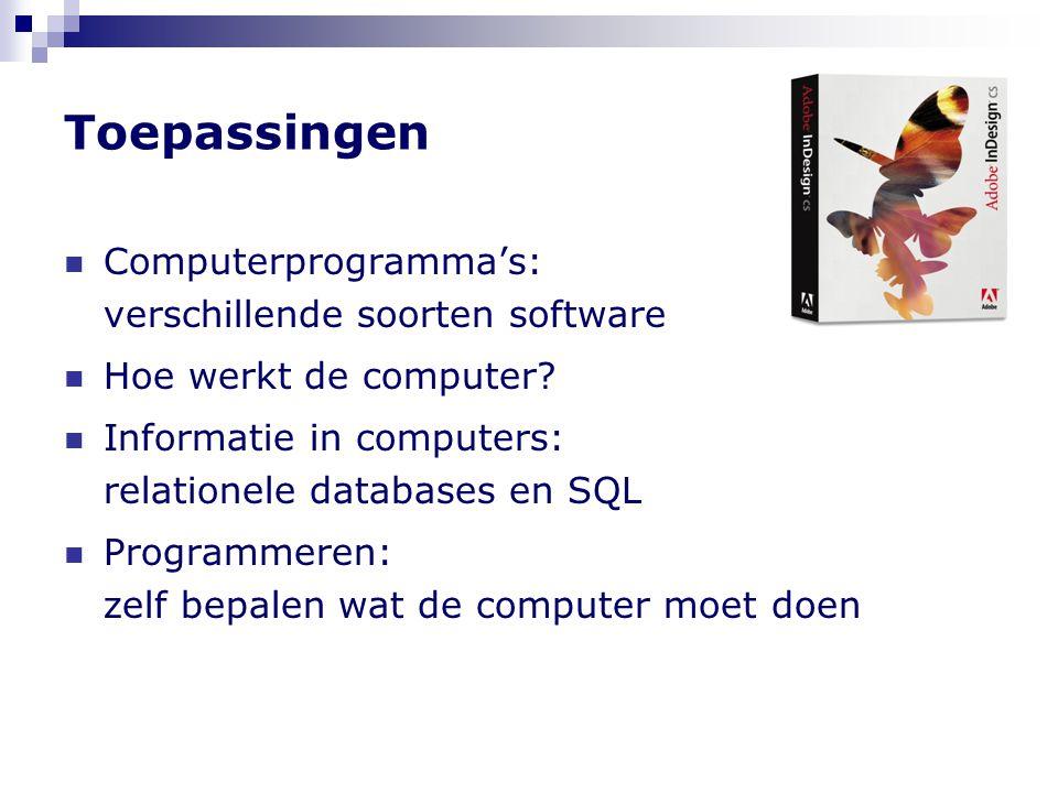 Toepassingen Computerprogramma's: verschillende soorten software