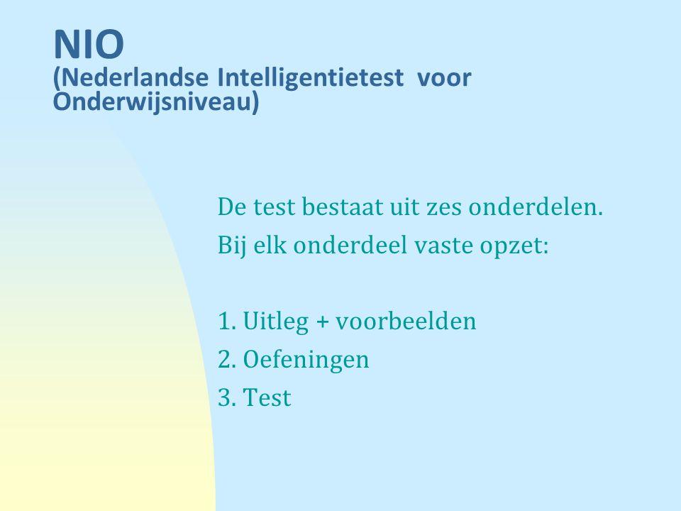 NIO (Nederlandse Intelligentietest voor Onderwijsniveau)
