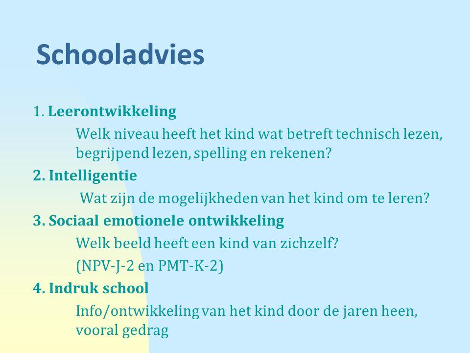 Schooladvies 1. Leerontwikkeling