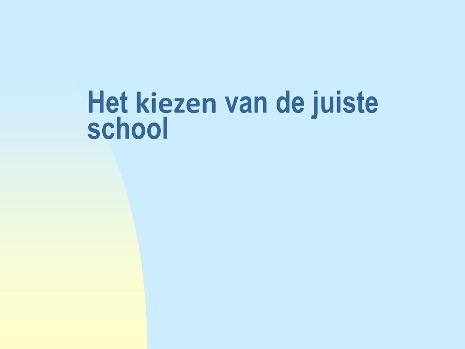 Het kiezen van de juiste school