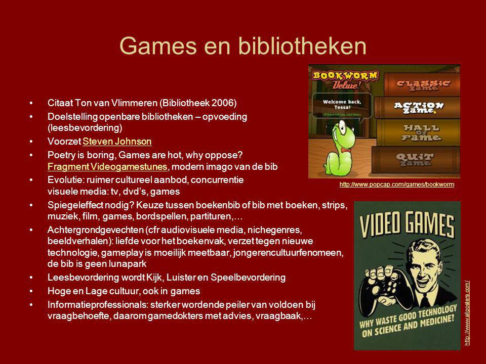 Games en bibliotheken Citaat Ton van Vlimmeren (Bibliotheek 2006)