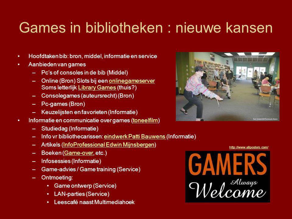 Games in bibliotheken : nieuwe kansen