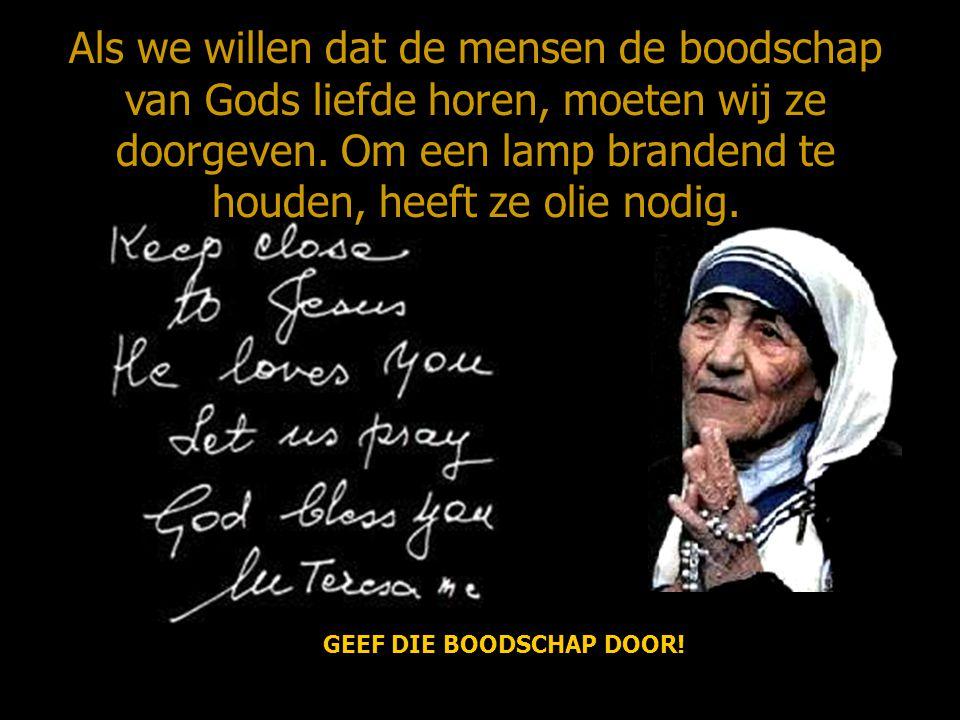 GEEF DIE BOODSCHAP DOOR!