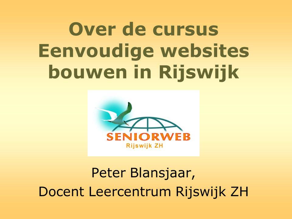 Over de cursus Eenvoudige websites bouwen in Rijswijk