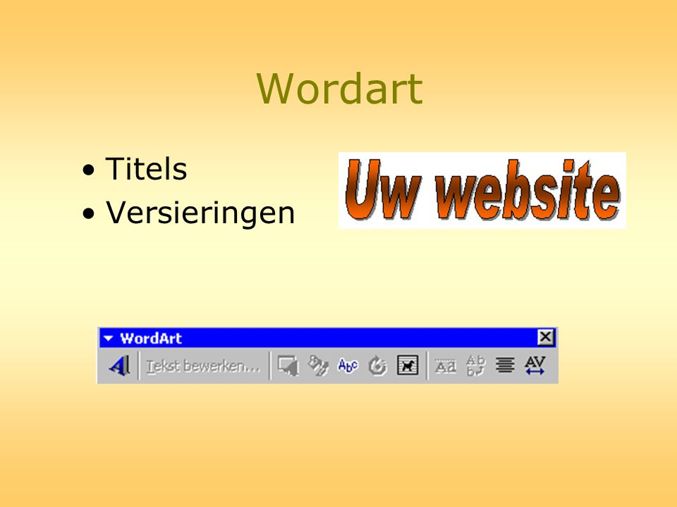 Wordart Titels Versieringen