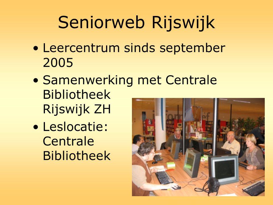 Seniorweb Rijswijk Leercentrum sinds september 2005