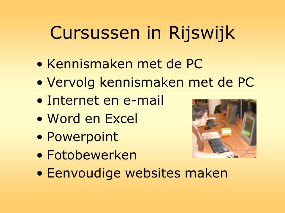 Cursussen in Rijswijk Kennismaken met de PC