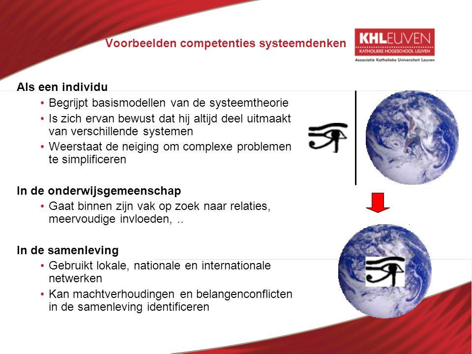 Voorbeelden competenties systeemdenken