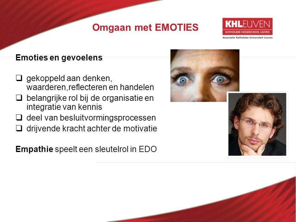 Omgaan met EMOTIES Emoties en gevoelens