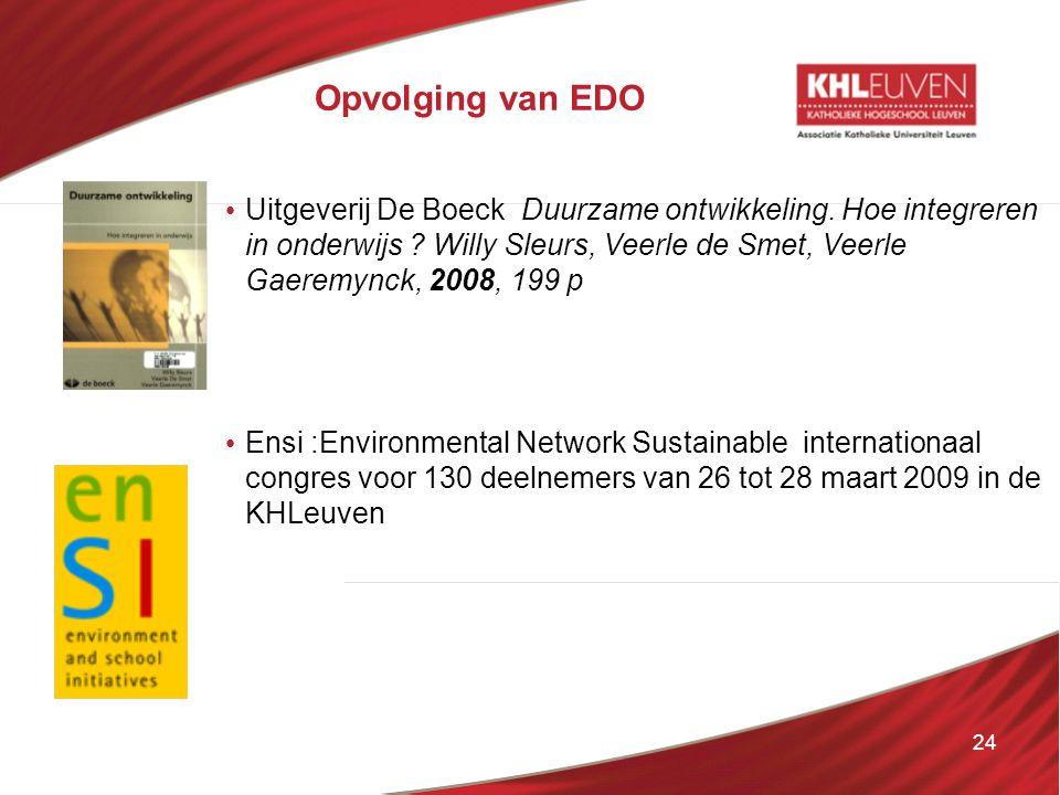 Opvolging van EDO