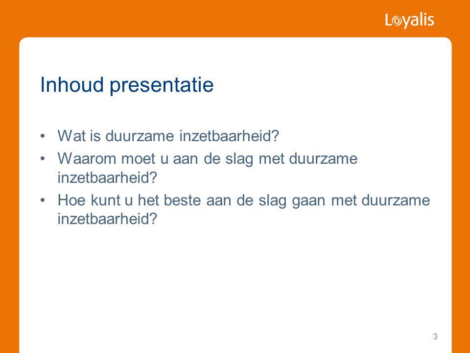 Inhoud presentatie Wat is duurzame inzetbaarheid