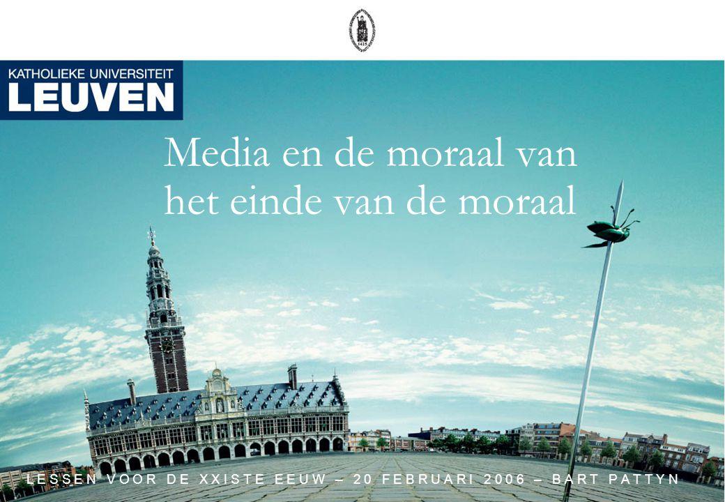 Media en de moraal van het einde van de moraal