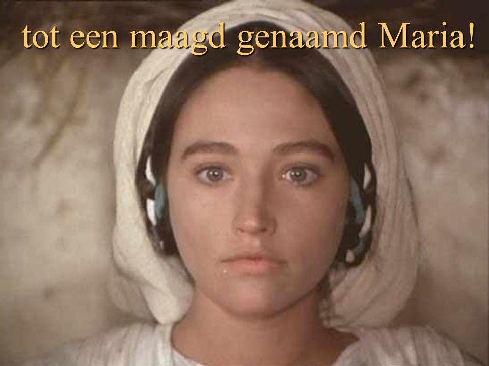 tot een maagd genaamd Maria!
