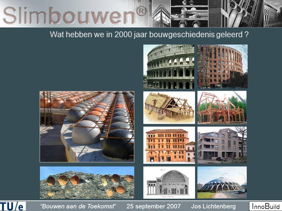 Wat hebben we in 2000 jaar bouwgeschiedenis geleerd