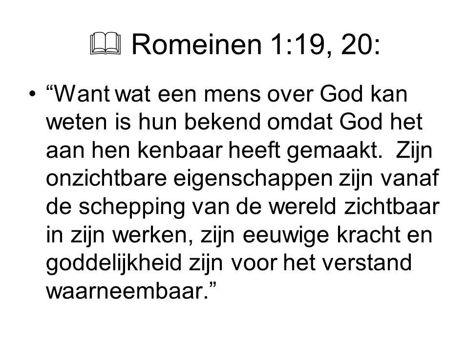  Romeinen 1:19, 20: