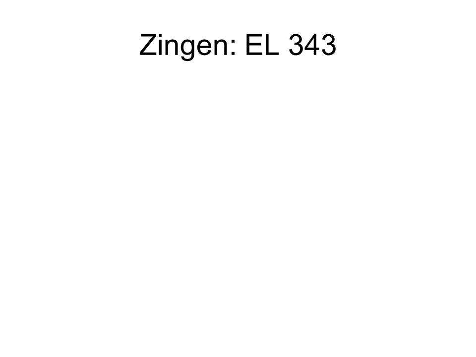 Zingen: EL 343