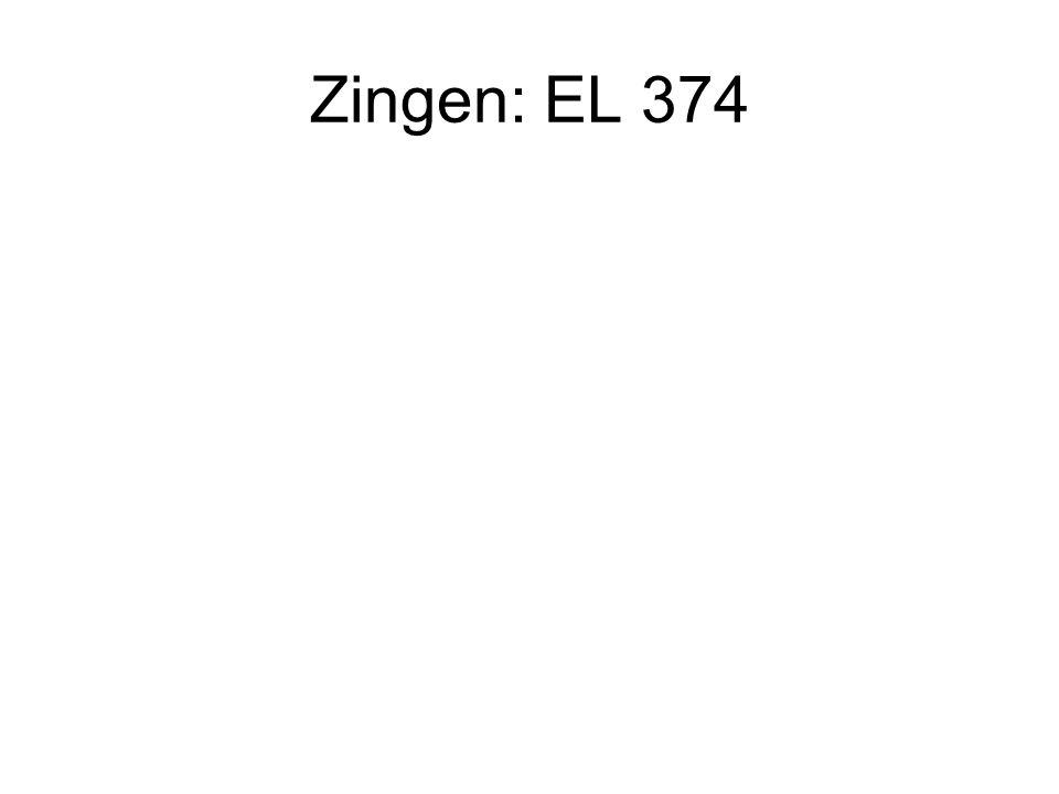 Zingen: EL 374
