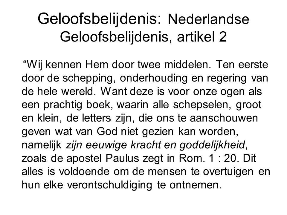 Geloofsbelijdenis: Nederlandse Geloofsbelijdenis, artikel 2