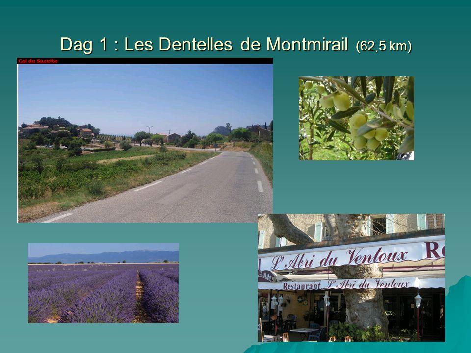 Dag 1 : Les Dentelles de Montmirail (62,5 km)