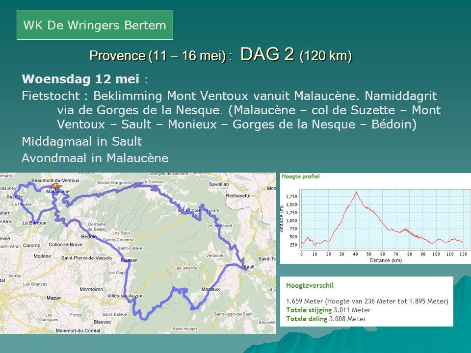 Provence (11 – 16 mei) : DAG 2 (120 km)