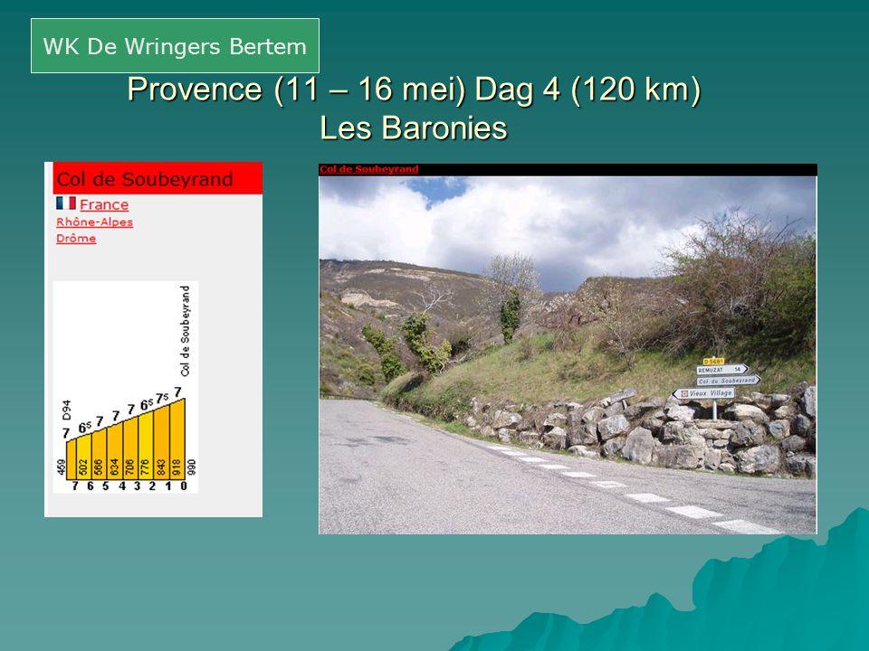 Provence (11 – 16 mei) Dag 4 (120 km) Les Baronies