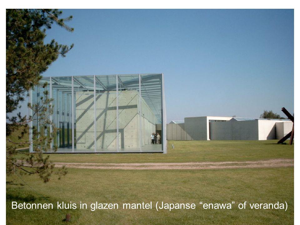 Betonnen kluis in glazen mantel (Japanse enawa of veranda)