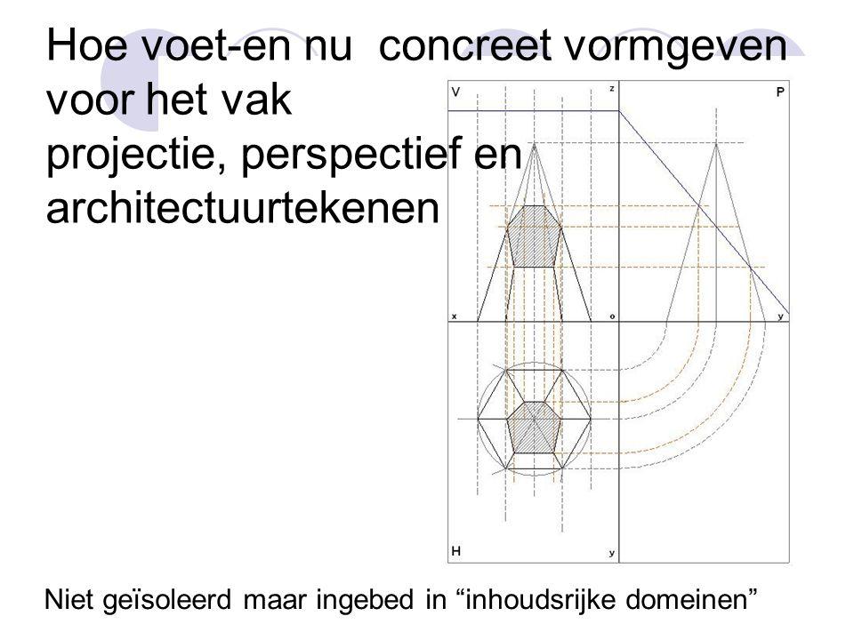 Hoe voet-en nu concreet vormgeven voor het vak projectie, perspectief en architectuurtekenen