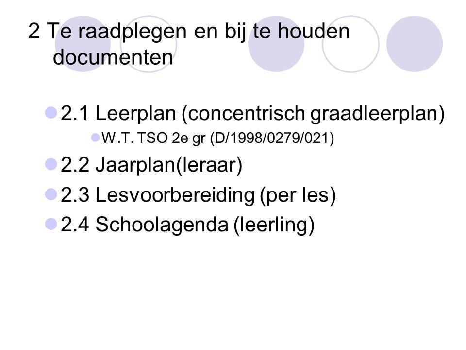 2 Te raadplegen en bij te houden documenten