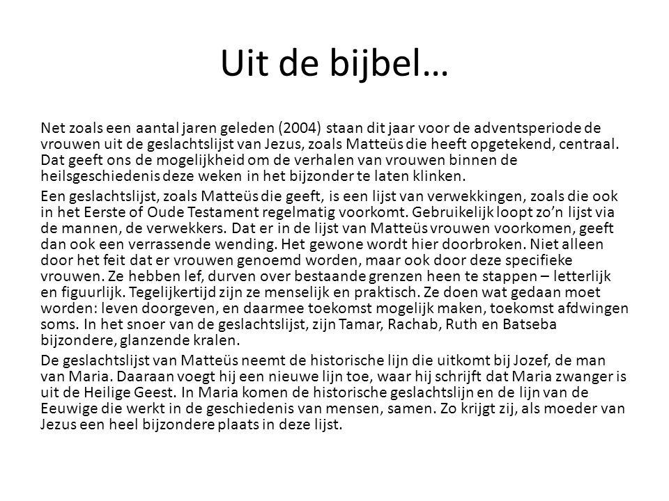 Uit de bijbel…