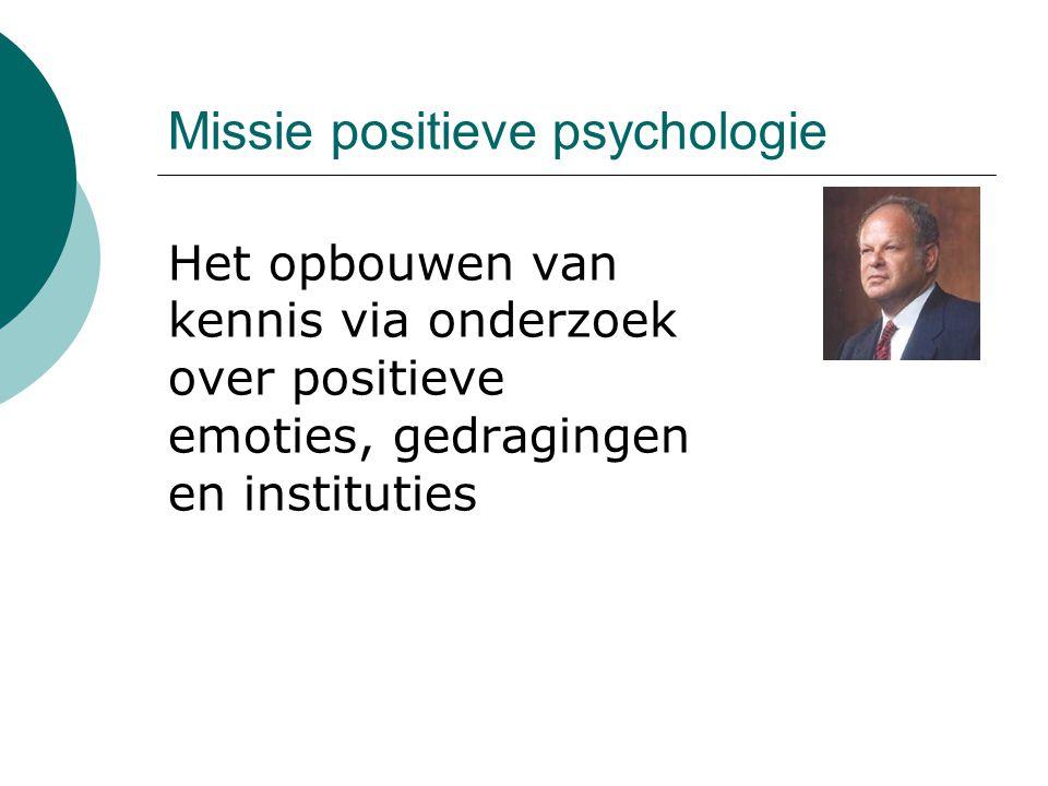 Missie positieve psychologie
