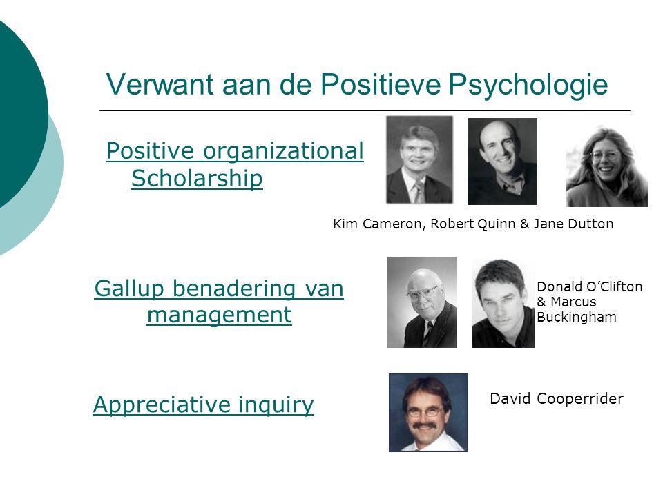 Verwant aan de Positieve Psychologie