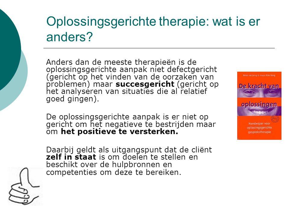 Oplossingsgerichte therapie: wat is er anders