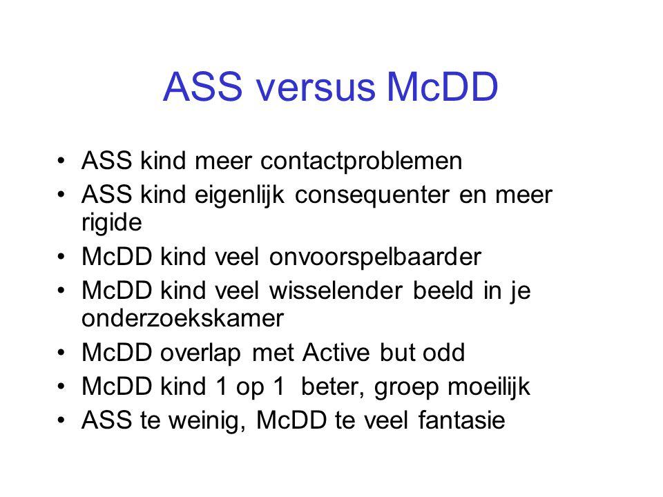 ASS versus McDD ASS kind meer contactproblemen