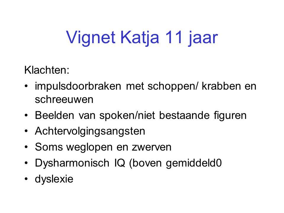 Vignet Katja 11 jaar Klachten: