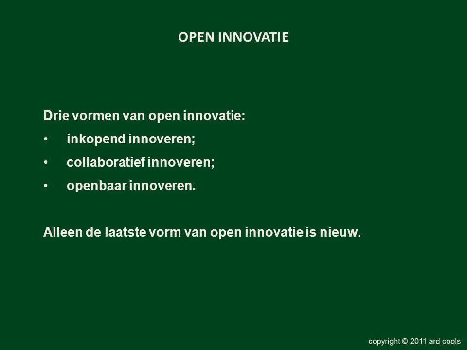 OPEN INNOVATIE Drie vormen van open innovatie: inkopend innoveren;