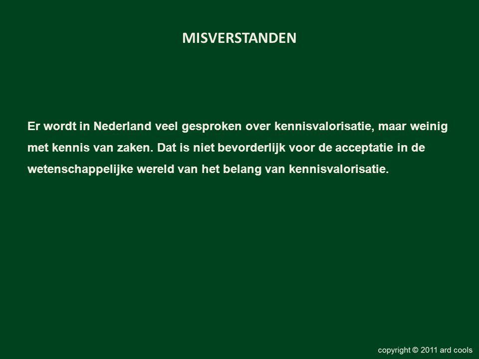 MISVERSTANDEN Er wordt in Nederland veel gesproken over kennisvalorisatie, maar weinig.