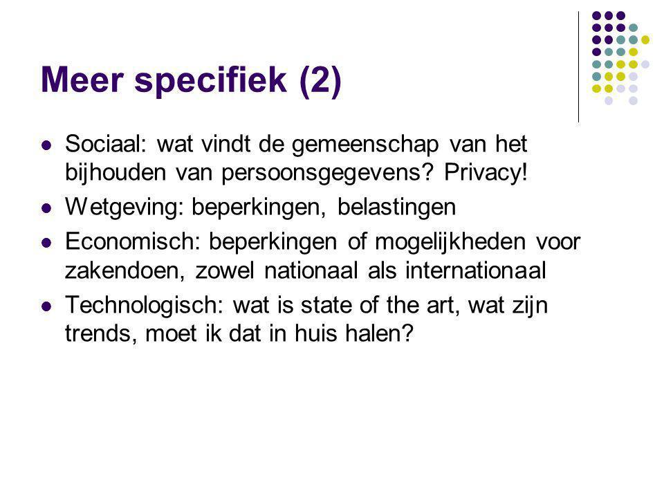 Meer specifiek (2) Sociaal: wat vindt de gemeenschap van het bijhouden van persoonsgegevens Privacy!